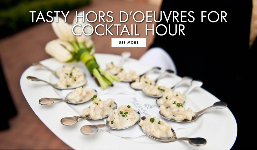 Tasty Hors d'oeuvres for cocktail hour appetizer ideas small bites