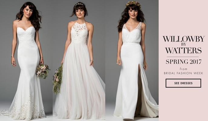 Bridal Week: Geometric Wedding Dresses From Willowby by Watters Fall ...