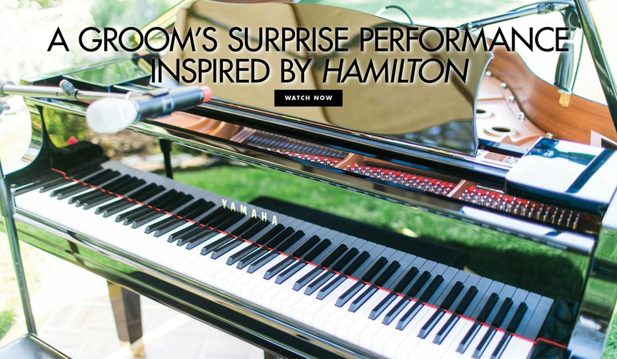 Wedding entertainment surprise performance by groom hamilton inspired performance YouTube video