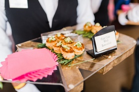 bridal shower food ideas, passed crab cakes appetizers