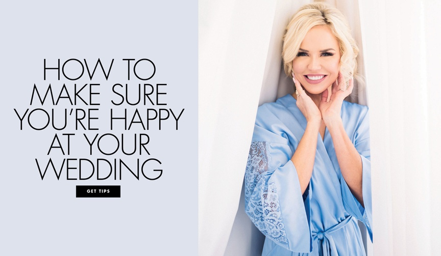 How to make sure you stay happy at your wedding no matter what