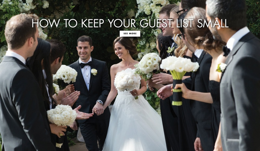 How to keep your guest list small for an intimate wedding planning tips ideas