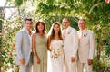 Bride and groom with family at Ojai wedding