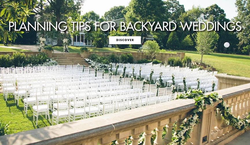 how to plan a backyard wedding, tips for an elegant backyard wedding