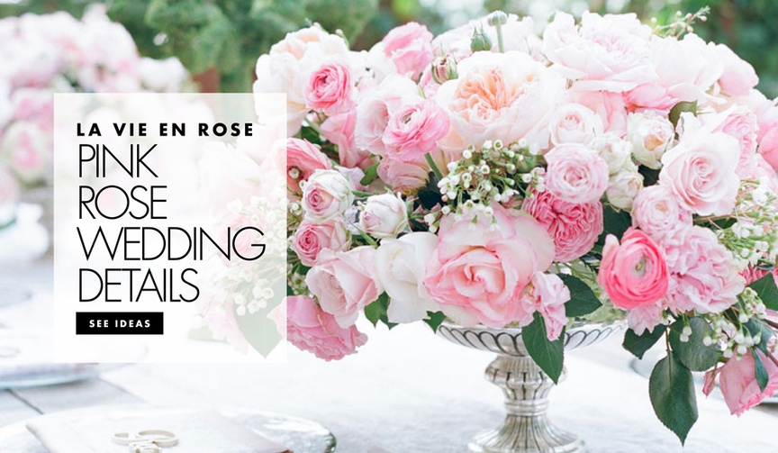 use pink roses in your wedding décor, how to use pink in your wedding colors