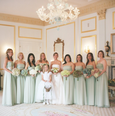 Strapless bridesmaid dresses in Waldorf Astoria