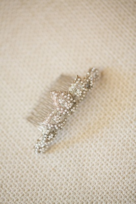 Bella Bleu Bridal pearl headpiece comb for bride