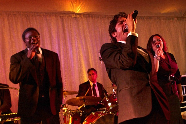 Arlen Music Productions live band on stage at wedding