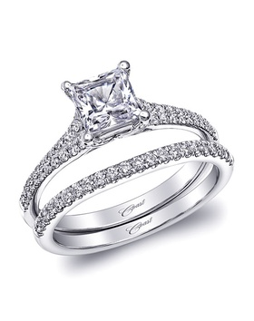 Charisma collection princess-cut ring and matching diamond band