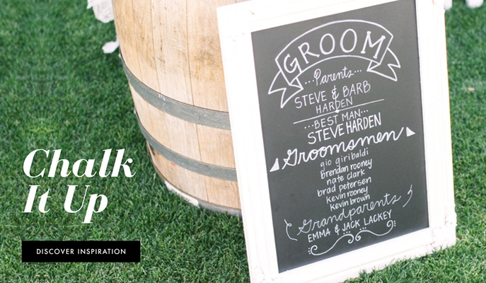 chalkboard signs for every part of your wedding inside weddings rh insideweddings com