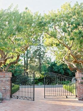 Private residence gate in Rancho Santa Fe, California