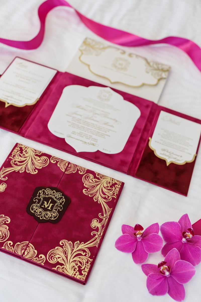 Invitations & More Photos - Velvet Wedding Invitation Booklet ...