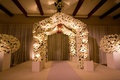 Floral-embellished Jewish wedding canopy
