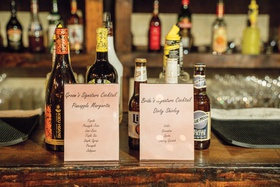 signature cocktail signs for both bride and groom