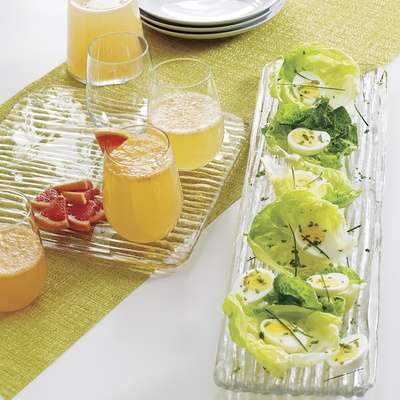Wedding registry ideas glass Sava platter plates