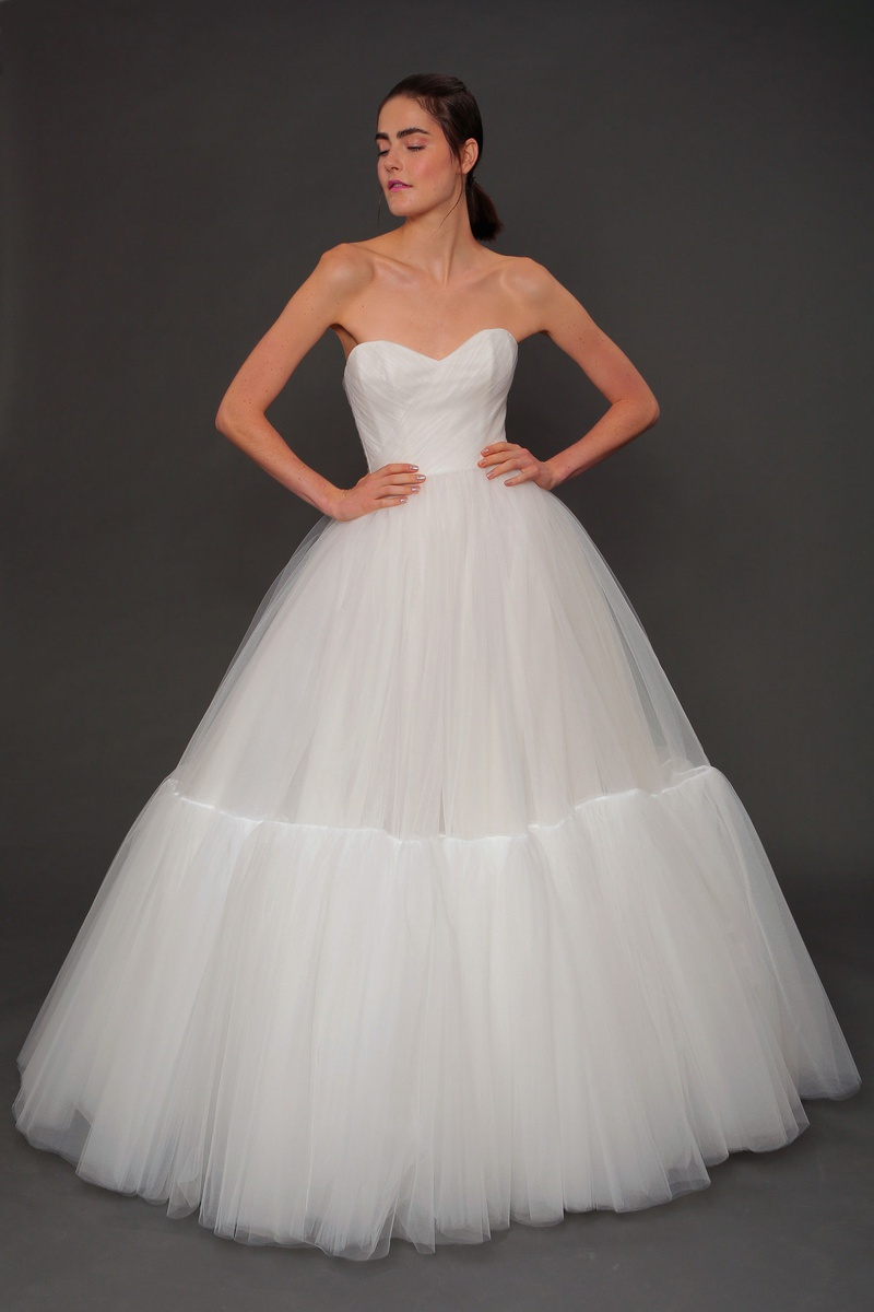 Isabelle Armstrong fall 2019 bridal collection wedding dress Liane tulle ball gown with ruffle