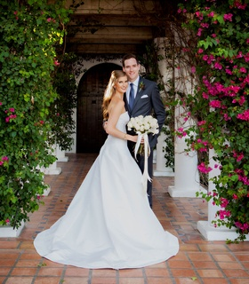 Wedding at la quinta resort and spa palm springs palm desert la quinta a line strapless wedding gown