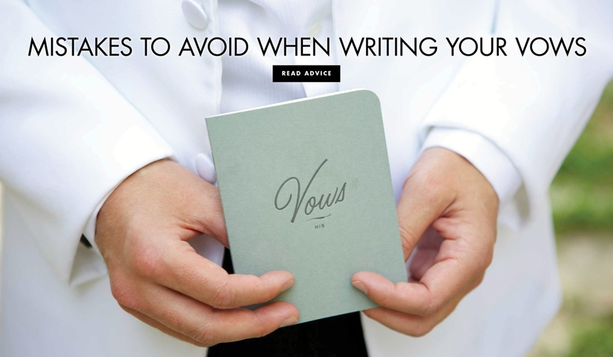 writing your own vows don'ts, mistakes to avoid when writing your own wedding vows