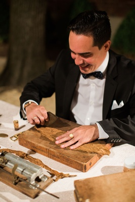 Wedding reception cuban cigars at party wedding favor ideas for guests