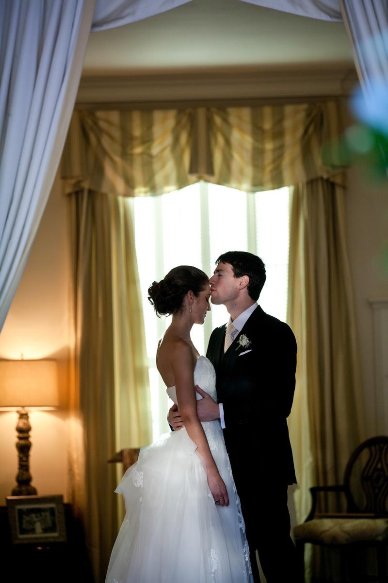 Bride and Groom moment at the Darlington House La Jolla CA
