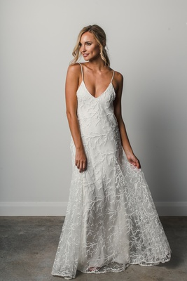 Suki by Grace Loves Lace Elixir wedding dress, silk straps, beaded trim