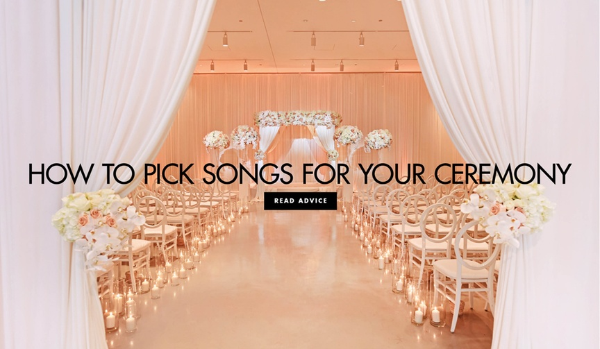 How to pick songs for your wedding ceremony