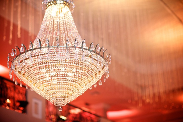 crystal chandelier in reception space Colombia hanging elegance