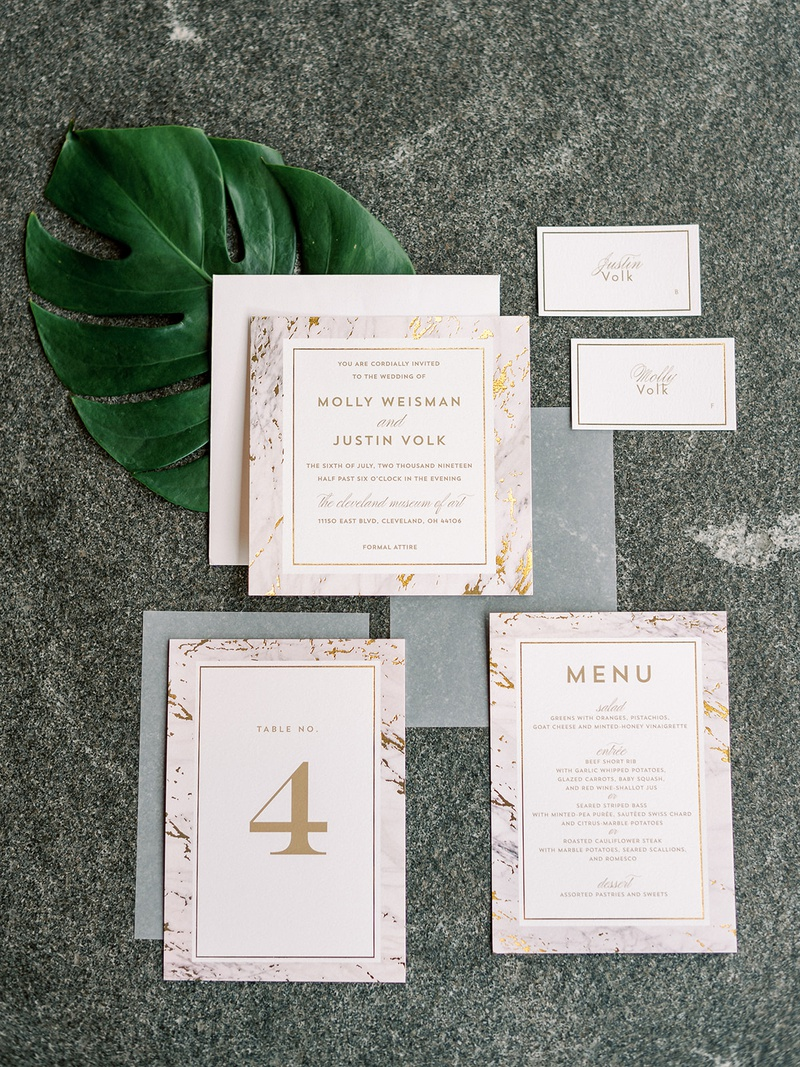 minted wedding invitation table number menu and escort cards marble gold design modern