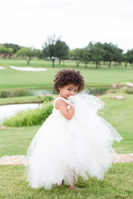 DeMarco Murray and Heidi Mueller's daughter, Savanna, at the wedding