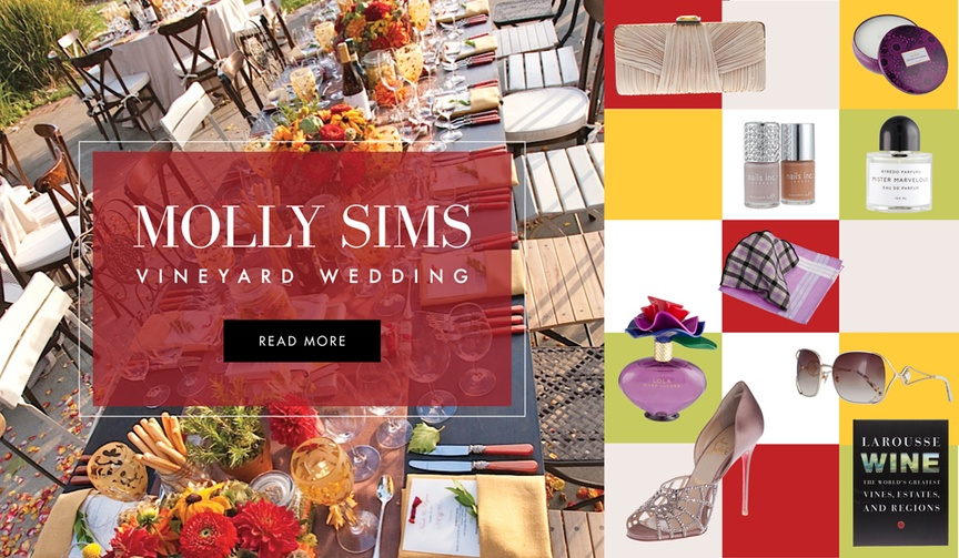 Vineyard and winery theme wedding inspired by Molly Sims