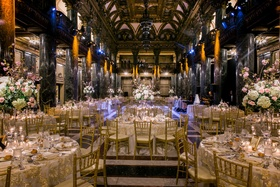 opulent elegant indoor reception ballroom space pittsburgh pa gold silver dance floor marble