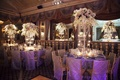 Ballroom wedding with crystal flower centerpieces