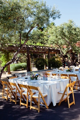 Carmel Valley ranch dinner tables and courtyard