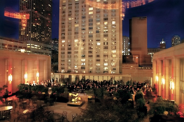 Windy City hotel outdoor reception space