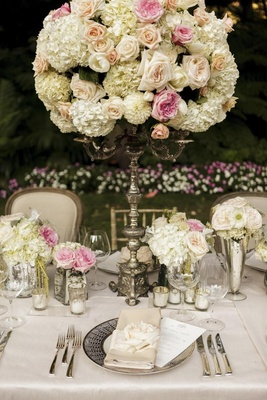 Secret Garden-inspired flower arrangement