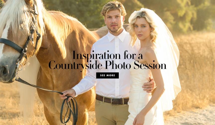 Countryside wedding portrait session engagement photo ideas styled wedding photo shoot