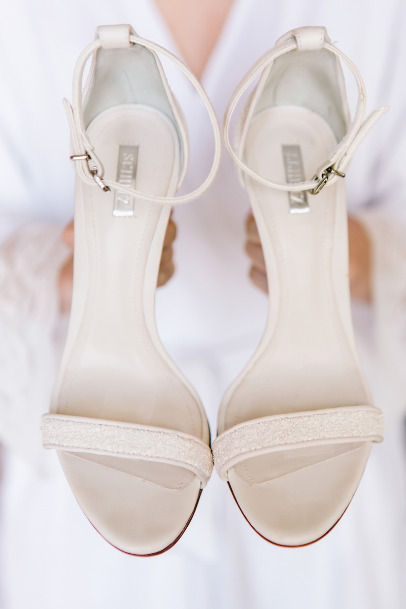 12fa4aebc7e9c6 Shoes   Bags Photos - Ivory Bridal Sandals with Straps - Inside Weddings