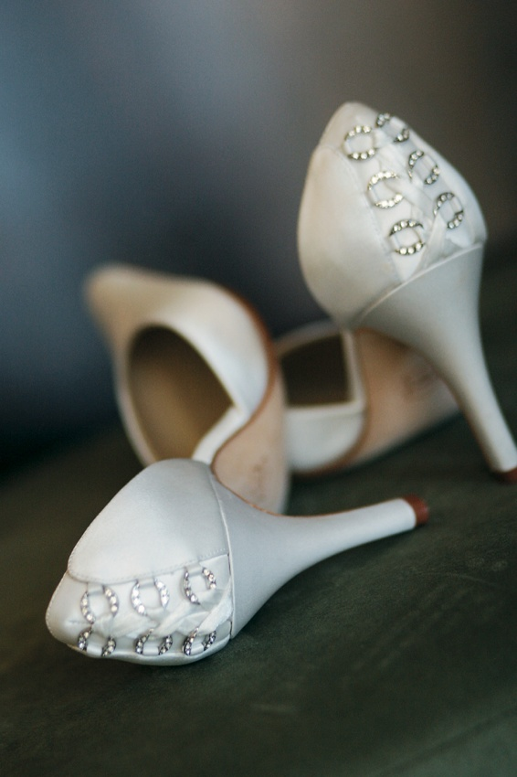 Grace wedding shoe with sparkles on back