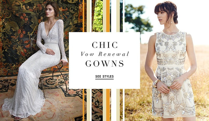 Wedding Dresses Perfect For Vow Renewal Ceremonies