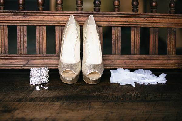 taupe peep toe heels and garter