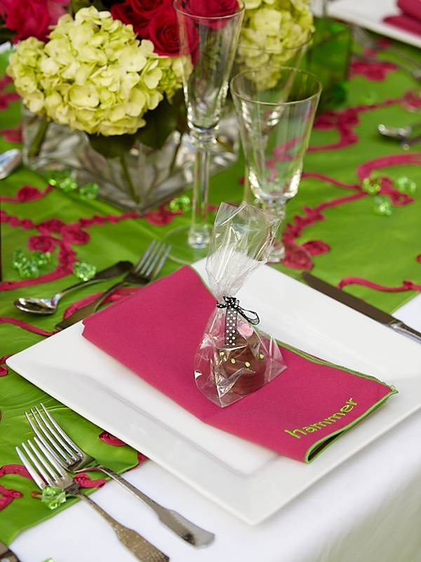Personalized napkin and tablescape