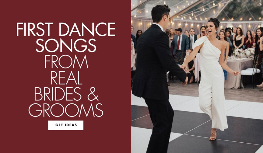first dance songs from real brides and grooms first dance song ideas 2019 inside weddings couples
