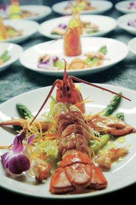 Le Vallauris catering menu item