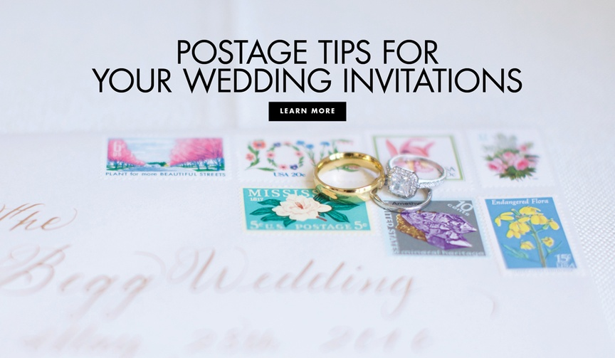 postage and stamps for wedding invitations