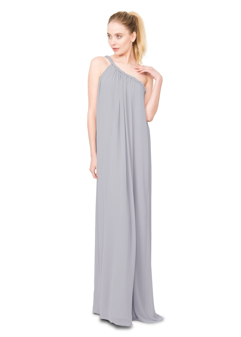 The Eleanor dress pairs a simple silhouette with an asymmetrical rope strap detail, made to compleme
