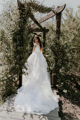 Echosmith singer Sydney Sierota and Cameron Quiseng wedding dress at garden venue in escondido ca