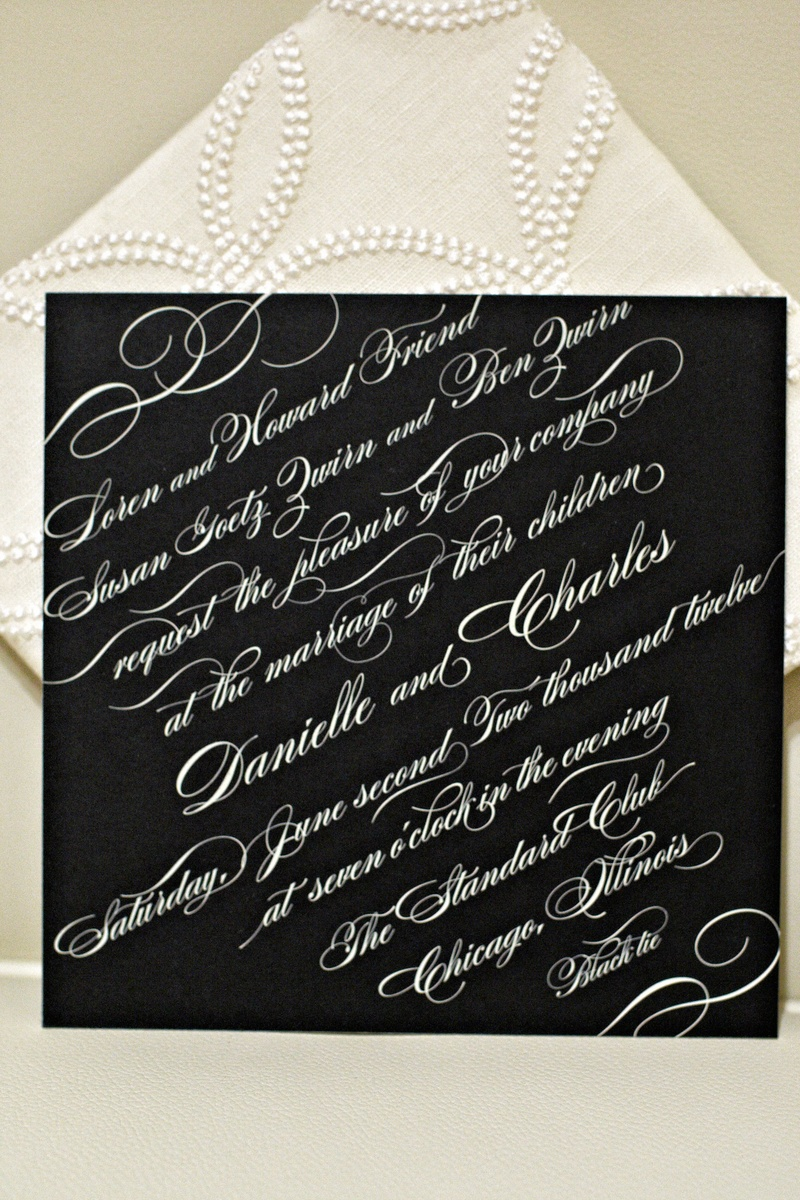 Invitations & More Photos - Black Tie Wedding Invitation - Inside ...