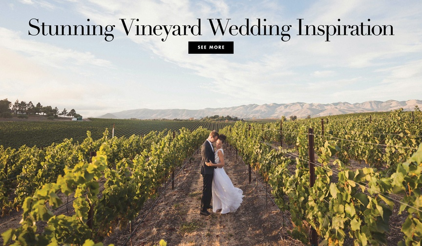 vineyard wedding inspiration real weddings styled shoots napa sonoma wine locations venues