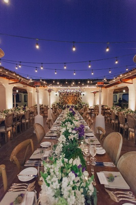 Nick Carter and Lauren Kitt's wedding reception table