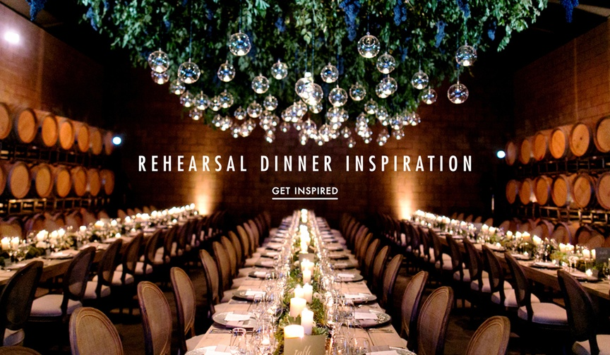 Get ideas and style tips for an unforgettable rehearsal dinner